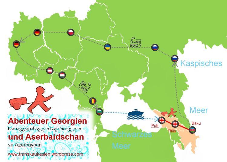 Kaukasus-Map