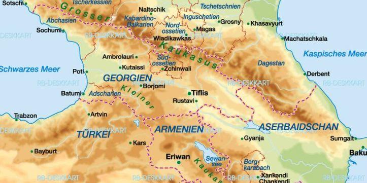 Transkaukasien-Karte